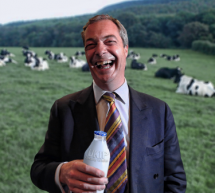 Nigel Farage Drinks Pint of Milk