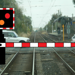Train delayed by level crossing