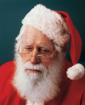 A sad Santa Claus