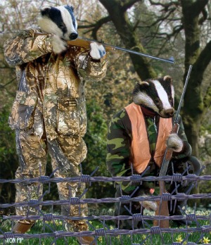 badgers holding rifles