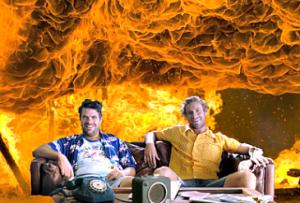 Australians in a fire