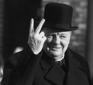 Winston Churchill's V for Victory