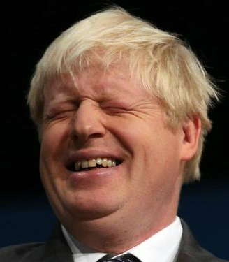 Boris Johnson laughing