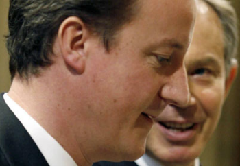 David Cameron tries to ignore Tony Blair