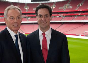 Ed Miliband tries to ignore Tony Blair