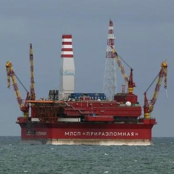 Gazprom oil rig, Arctic Ocean