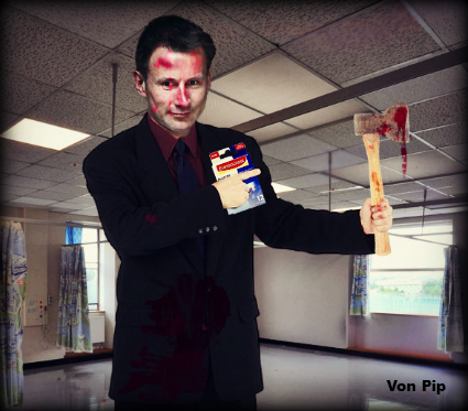 Jeremy Hunt wielding his axe