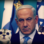 Kittens look scared as Benjamin Netanyahu hunts them down
