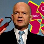 William Hague holding dynamite