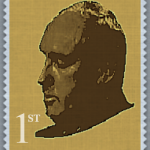 Paul Dacre's head on a stamp